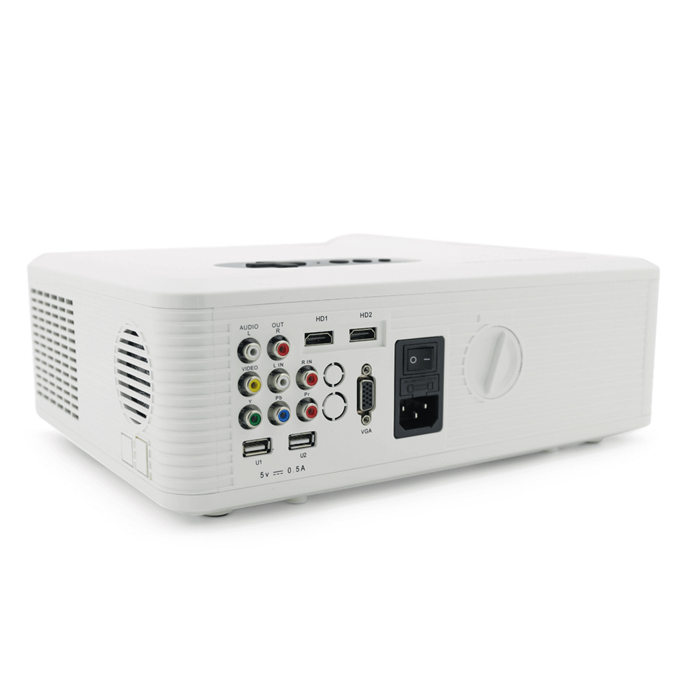Мини проектор Excelvan CL720 (белый) - 5